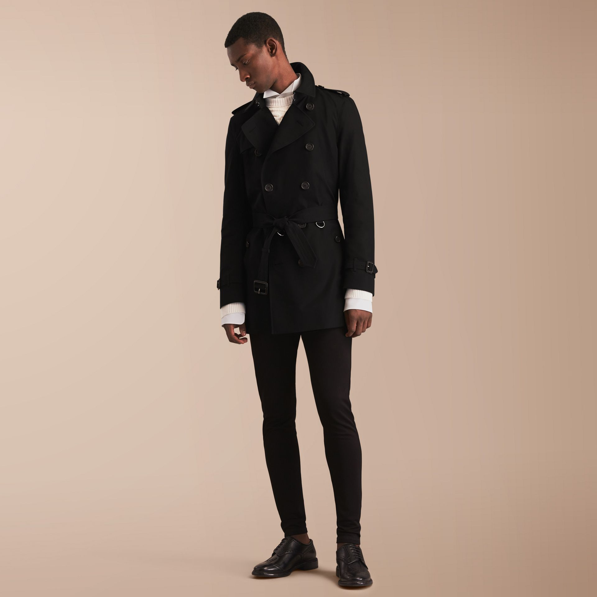 The Kensington – Mid-Length Heritage Trench Coat in Black - gallery image 7