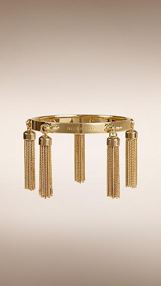 Chain Tassel Detail Brass Bracelet