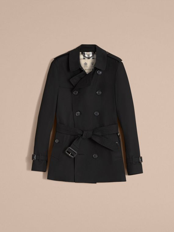 The Sandringham – Short Heritage Trench Coat Black - cell image 3