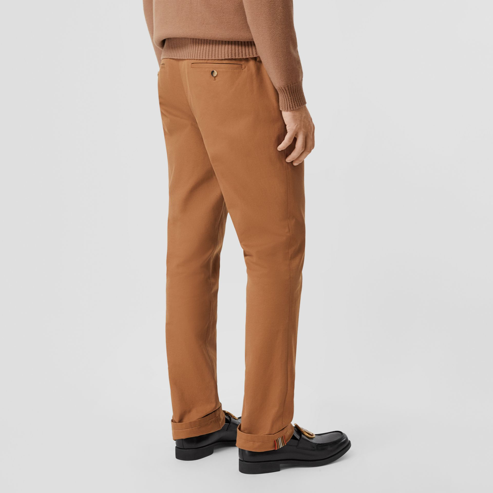 Classic Fit Cotton Chinos in Warm Walnut - Men | Burberry - gallery image 2