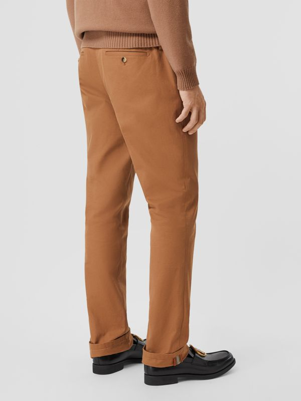 Classic Fit Cotton Chinos in Warm Walnut - Men | Burberry - cell image 2