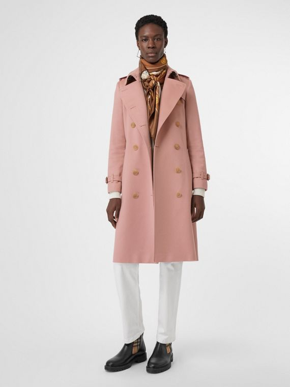 Trench coat in cashmere (Rosa Gesso)