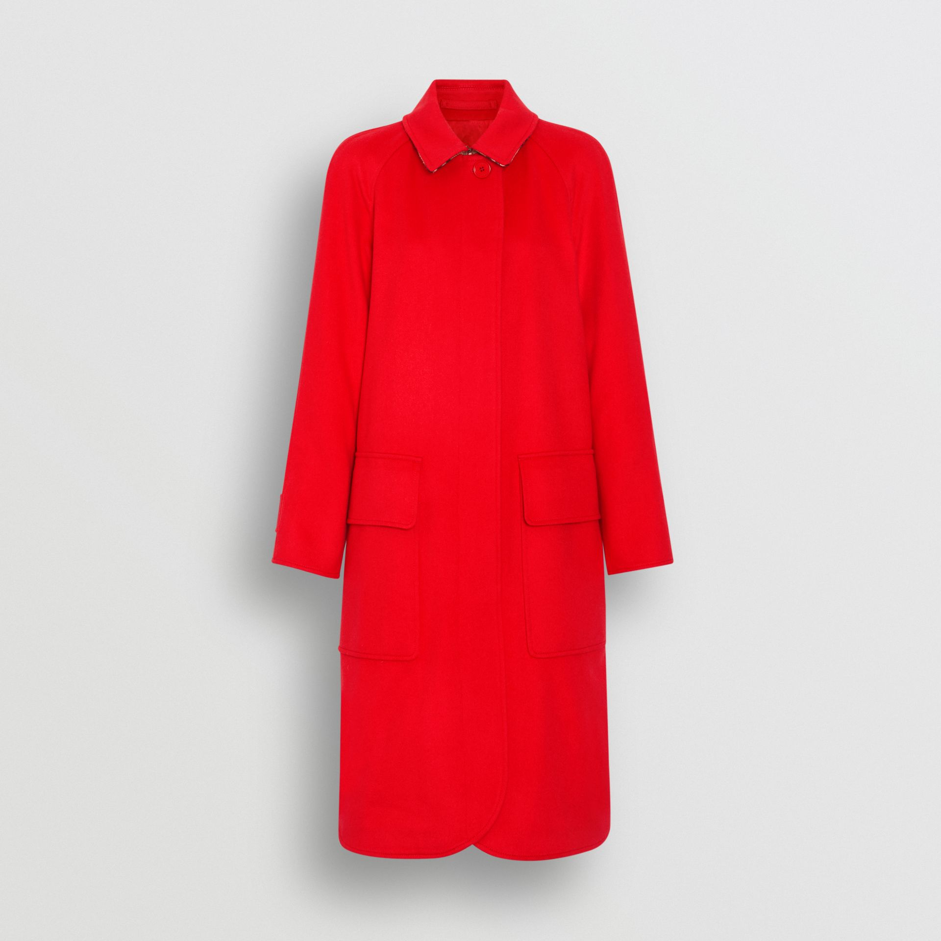Cashmere Car Coat in Bright Red - Women | Burberry United Kingdom - gallery image 3