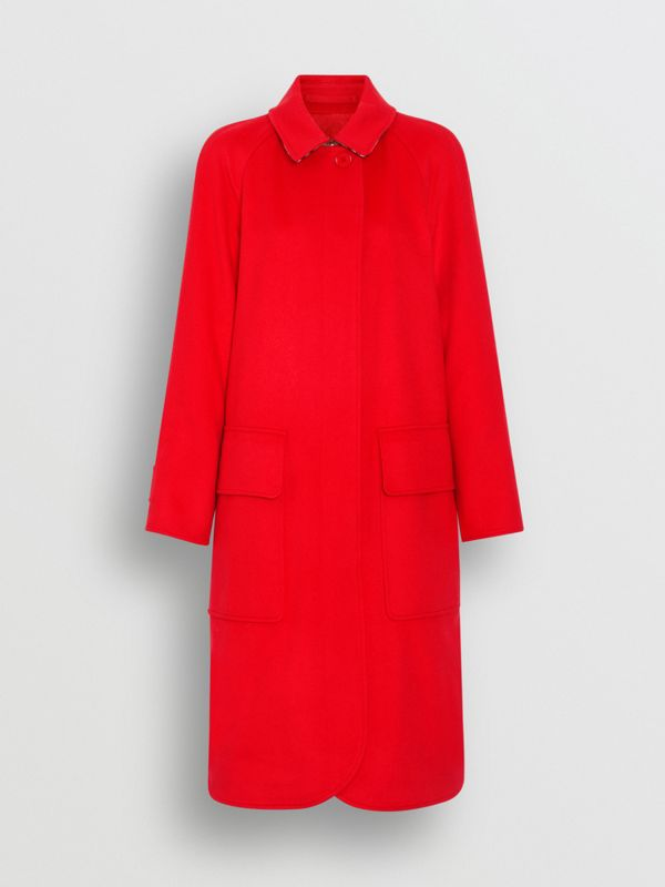 Cashmere Car Coat in Bright Red - Women | Burberry - cell image 3