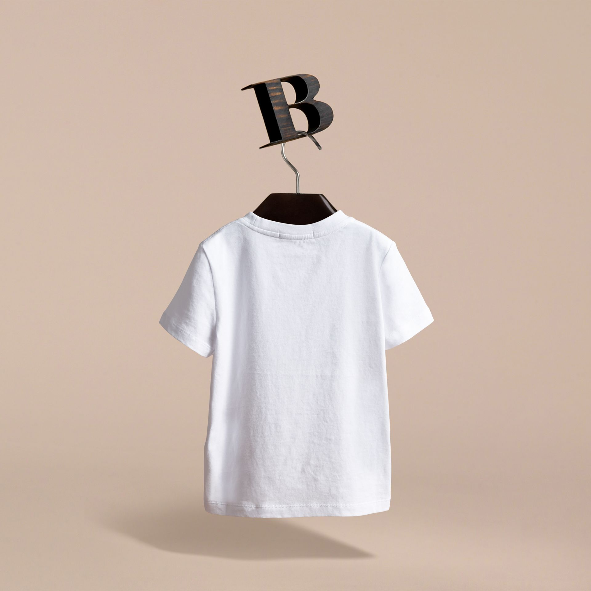 Pallas Heads Print Cotton T-shirt in White | Burberry Canada - gallery image 4