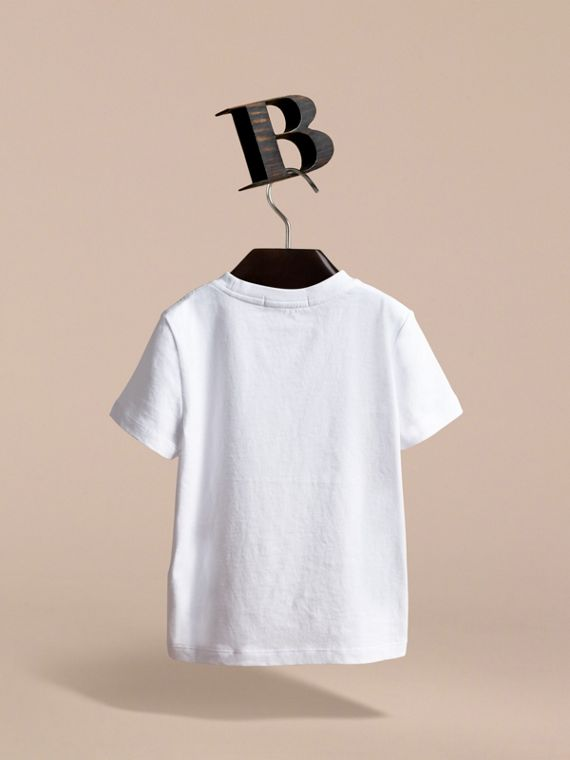 Pallas Heads Print Cotton T-shirt in White | Burberry - cell image 3