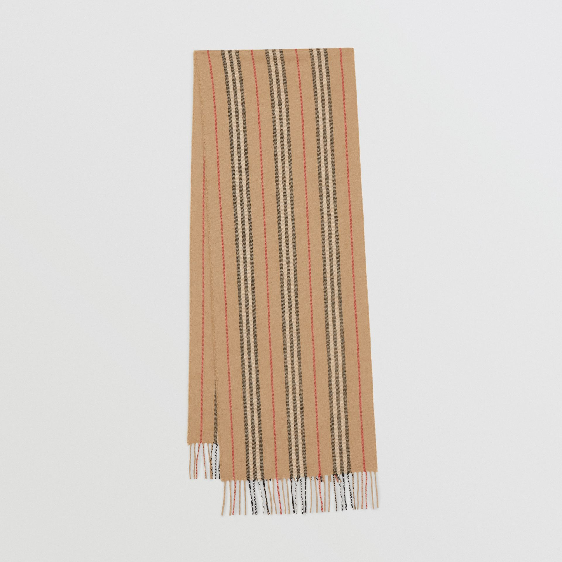 Icon Stripe Cashmere Scarf in Archive Beige | Burberry - gallery image 0