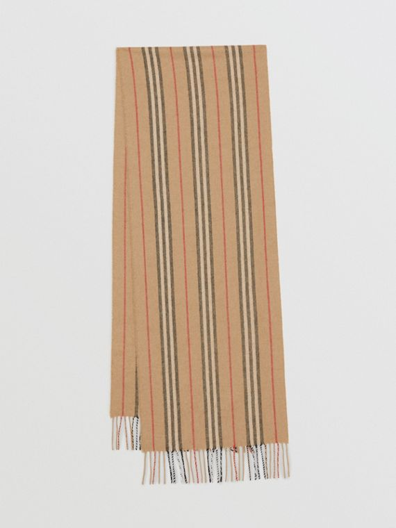 Icon Stripe Cashmere Scarf in Archive Beige