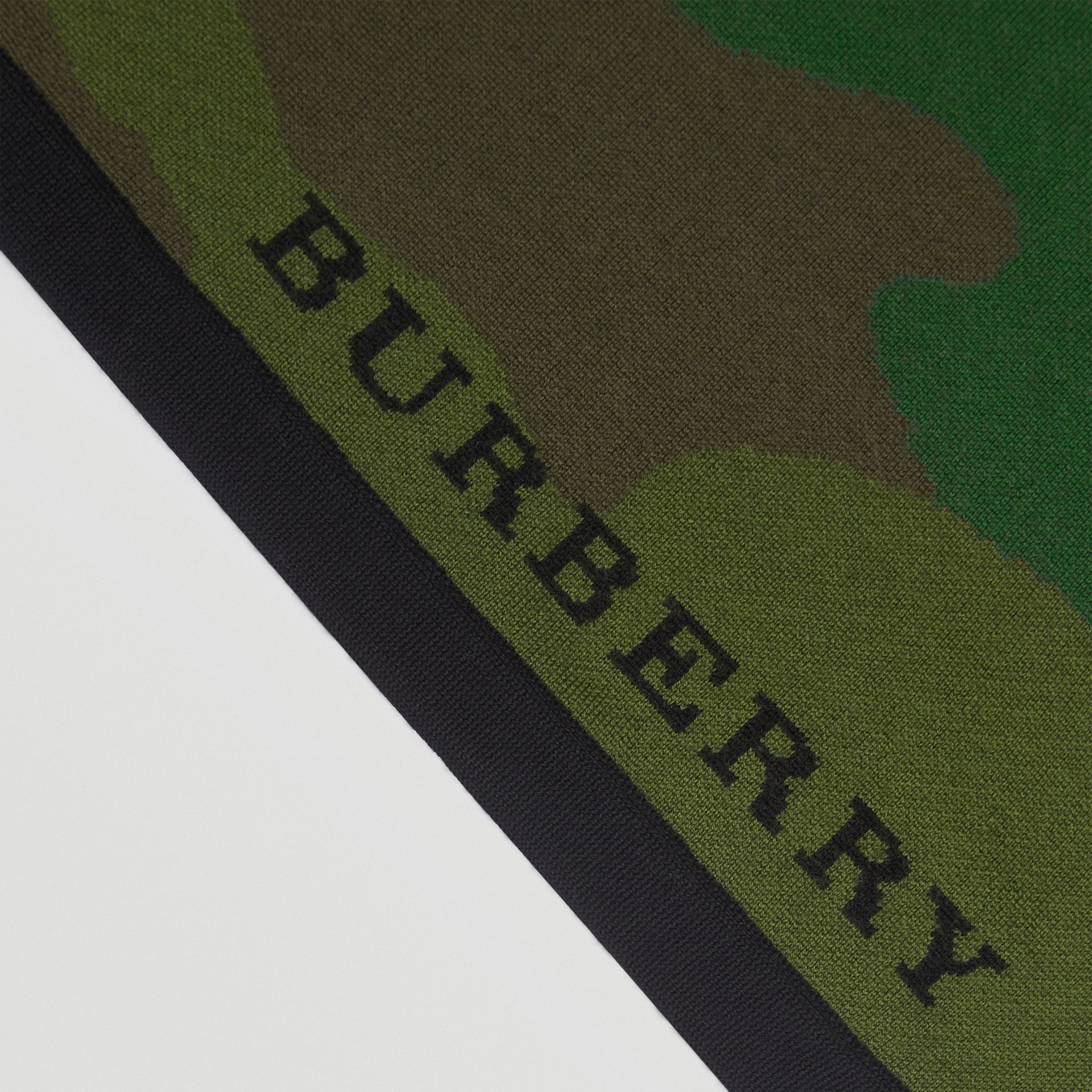 The Burberry Bandana in Camouflage Wool Blend in Khaki | Burberry - gallery image 1