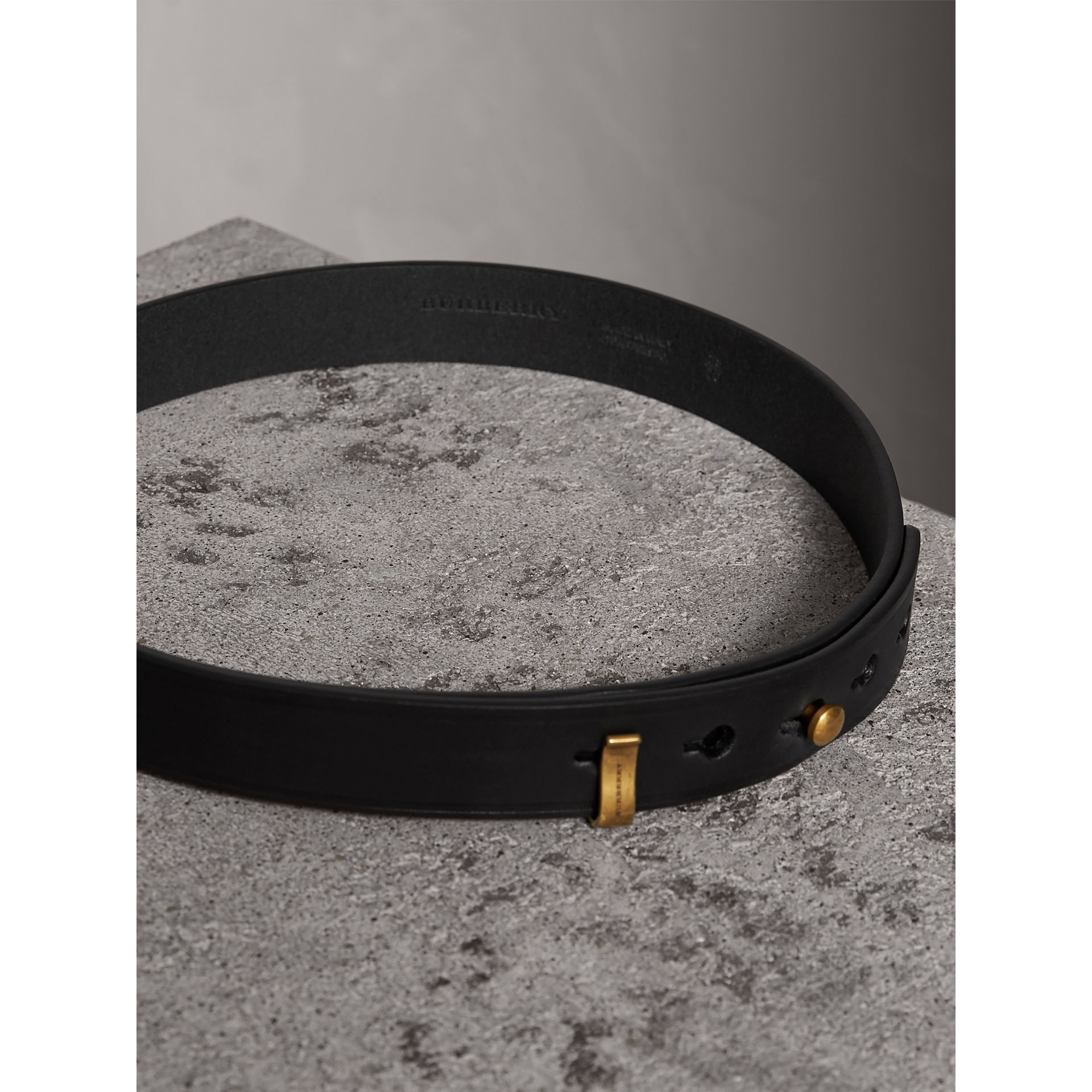Bridle Leather Belt in Black - Women | Burberry - gallery image 3