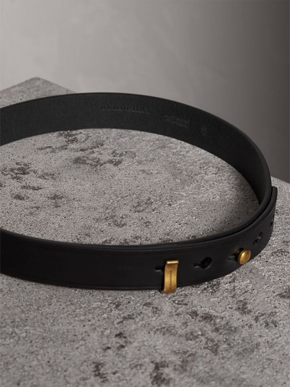 Bridle Leather Belt in Black - Women | Burberry - cell image 3