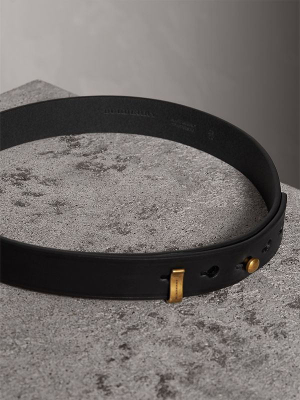 Bridle Leather Belt in Black - Women | Burberry Singapore - cell image 3