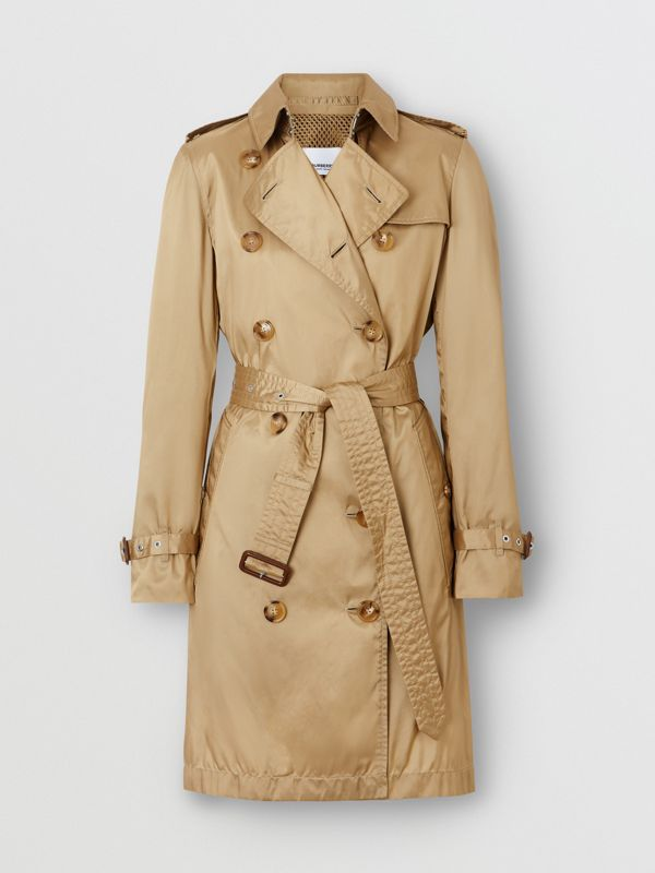 Detachable Hood ECONYL® Trench Coat in Honey - Women | Burberry United Kingdom - cell image 3