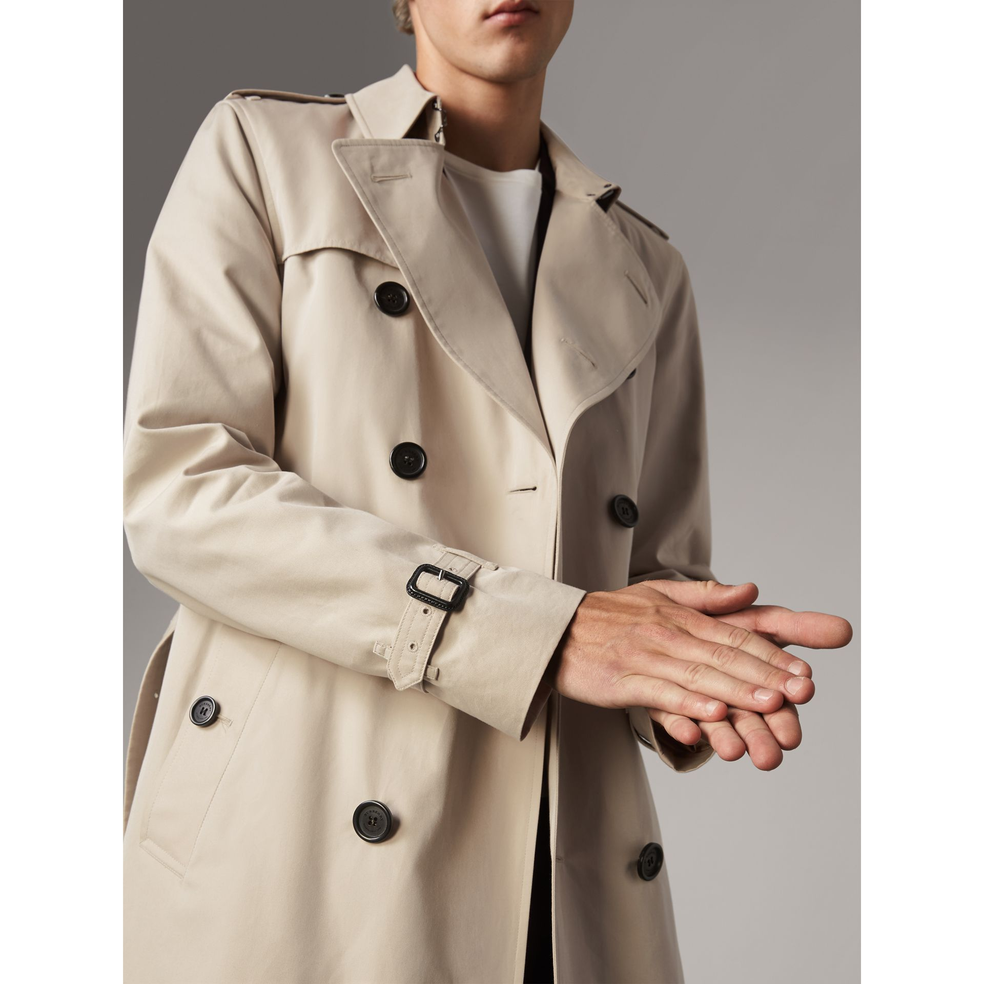 The Kensington – Mid-length Trench Coat in Stone - Men | Burberry Singapore - gallery image 5