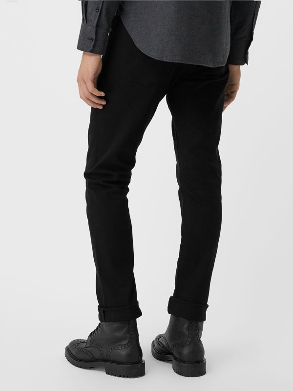 Straight Fit Stretch-denim Jeans in Black - Men | Burberry United Kingdom - cell image 2