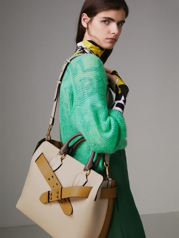 Sac TheBelt moyen en cuir tricolore (Calcaire/jaune Bleuet) - Femme   Burberry Canada - cell image 3