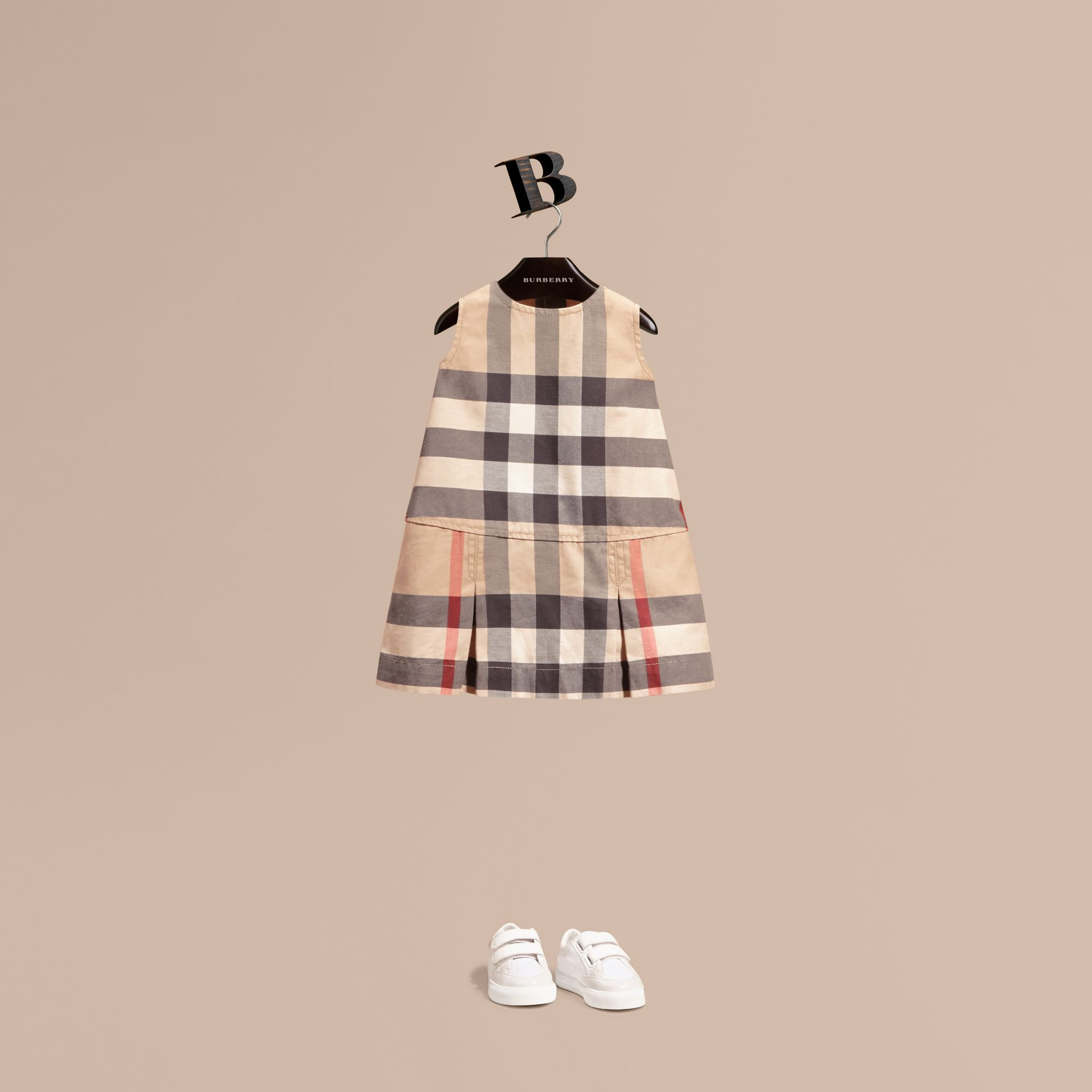 Washed Check Cotton Dress in New Classic | Burberry - gallery image 1