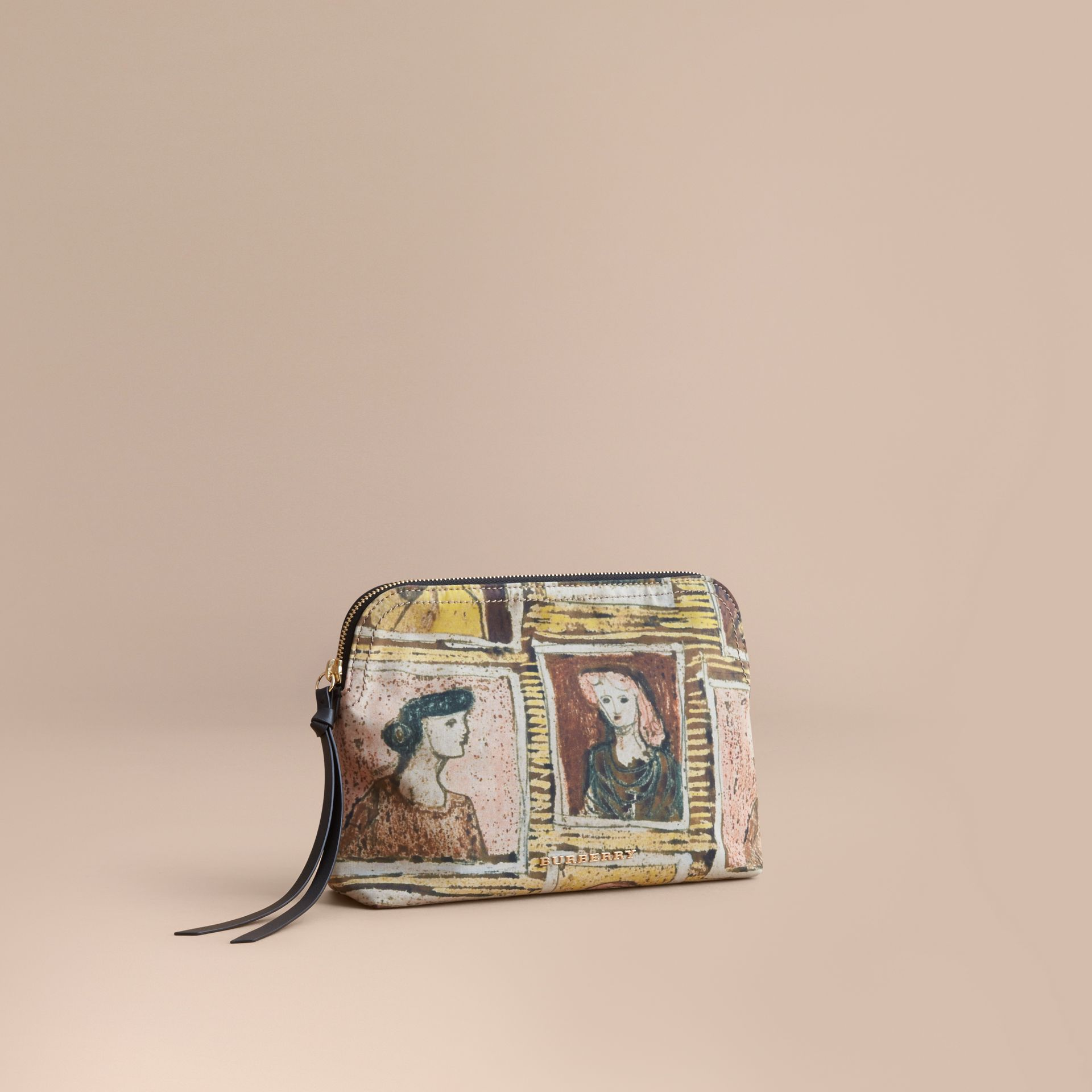 Large Zip-top Framed Heads Print Pouch - Women | Burberry - gallery image 1