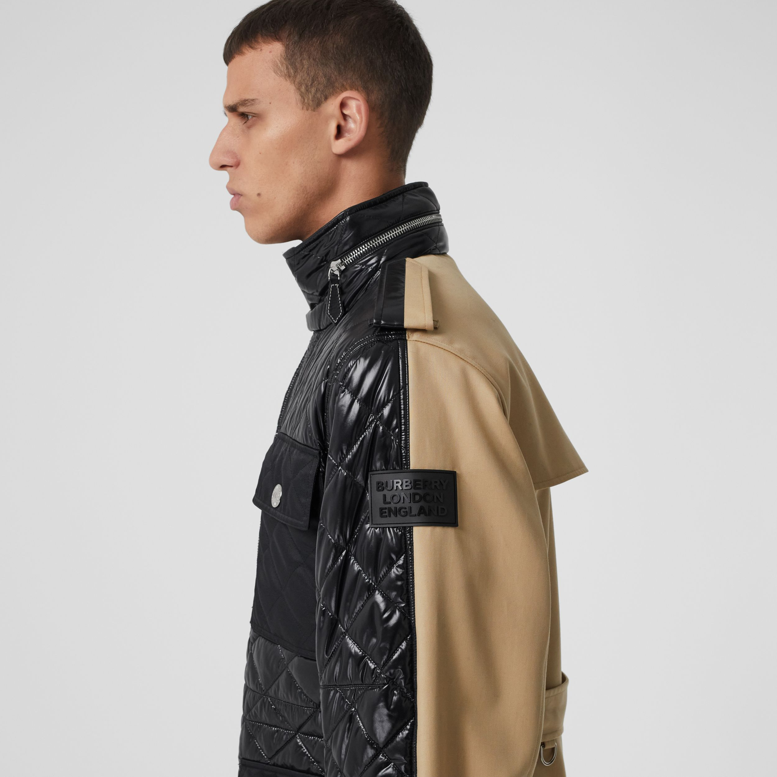 Packaway Hood Quilted Nylon and Cotton Field Jacket in Black | Burberry - 2