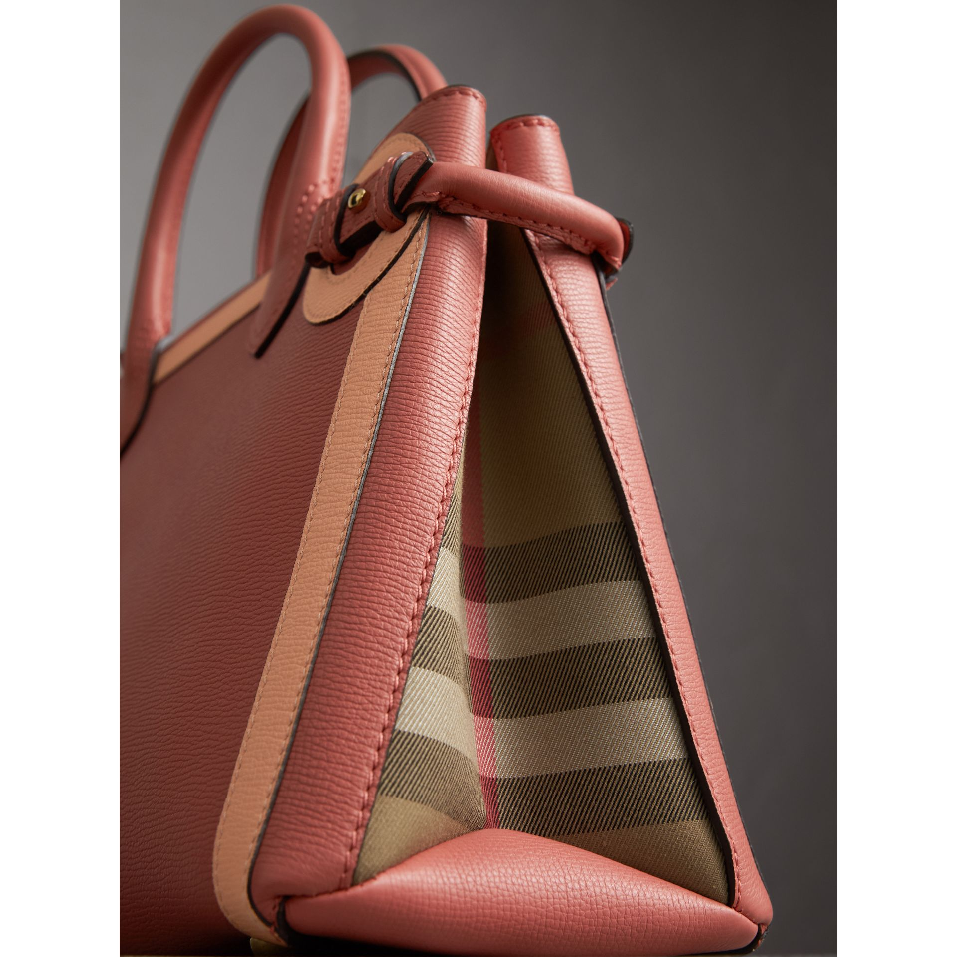 The Medium Banner in Leather with  Tonal Appliqué in Copper Pink - Women | Burberry - gallery image 7