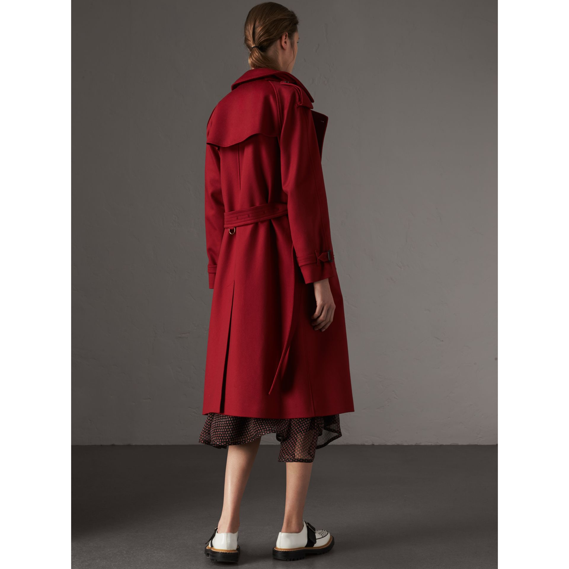 Cashmere Trench Coat in Parade Red - Women | Burberry Australia - gallery image 2