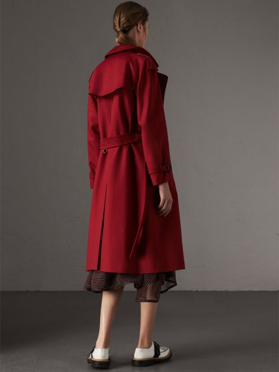 Cashmere Trench Coat in Parade Red - Women | Burberry Australia - cell image 2
