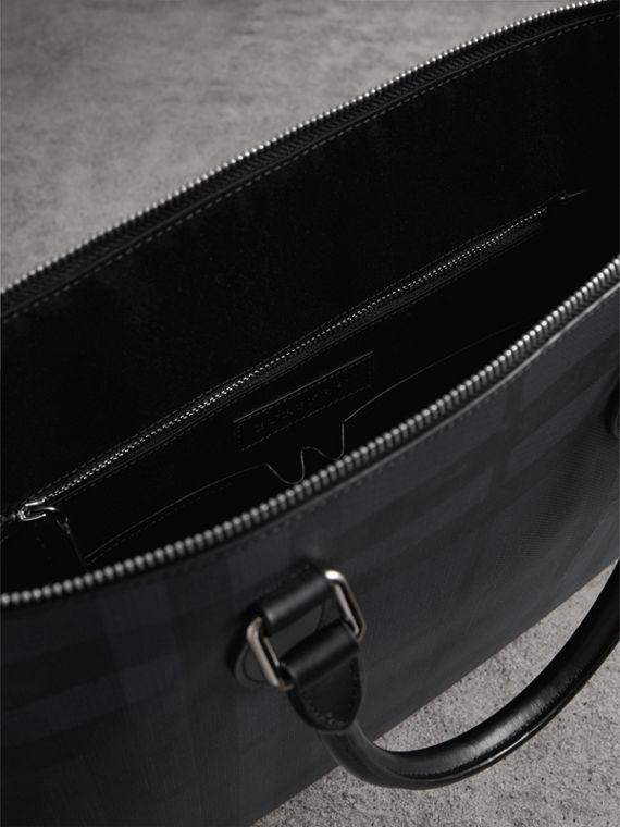 Large London Check Briefcase in Charcoal/black - Men | Burberry United Kingdom - cell image 3