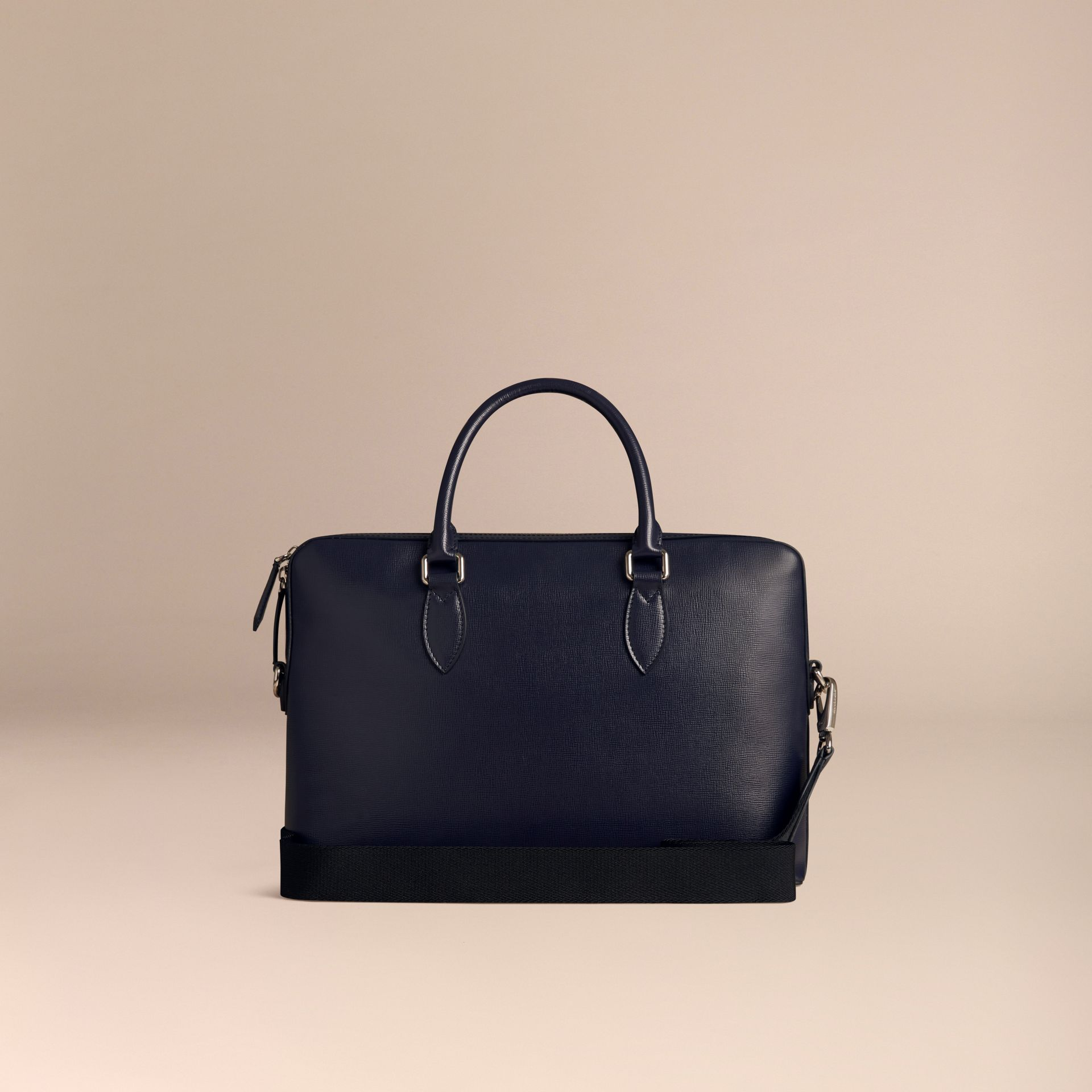 The Slim Barrow in London Leather in Dark Navy - gallery image 4