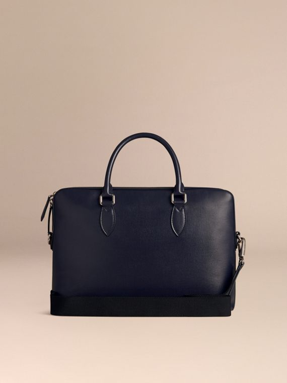 The Slim Barrow in London Leather in Dark Navy - cell image 3