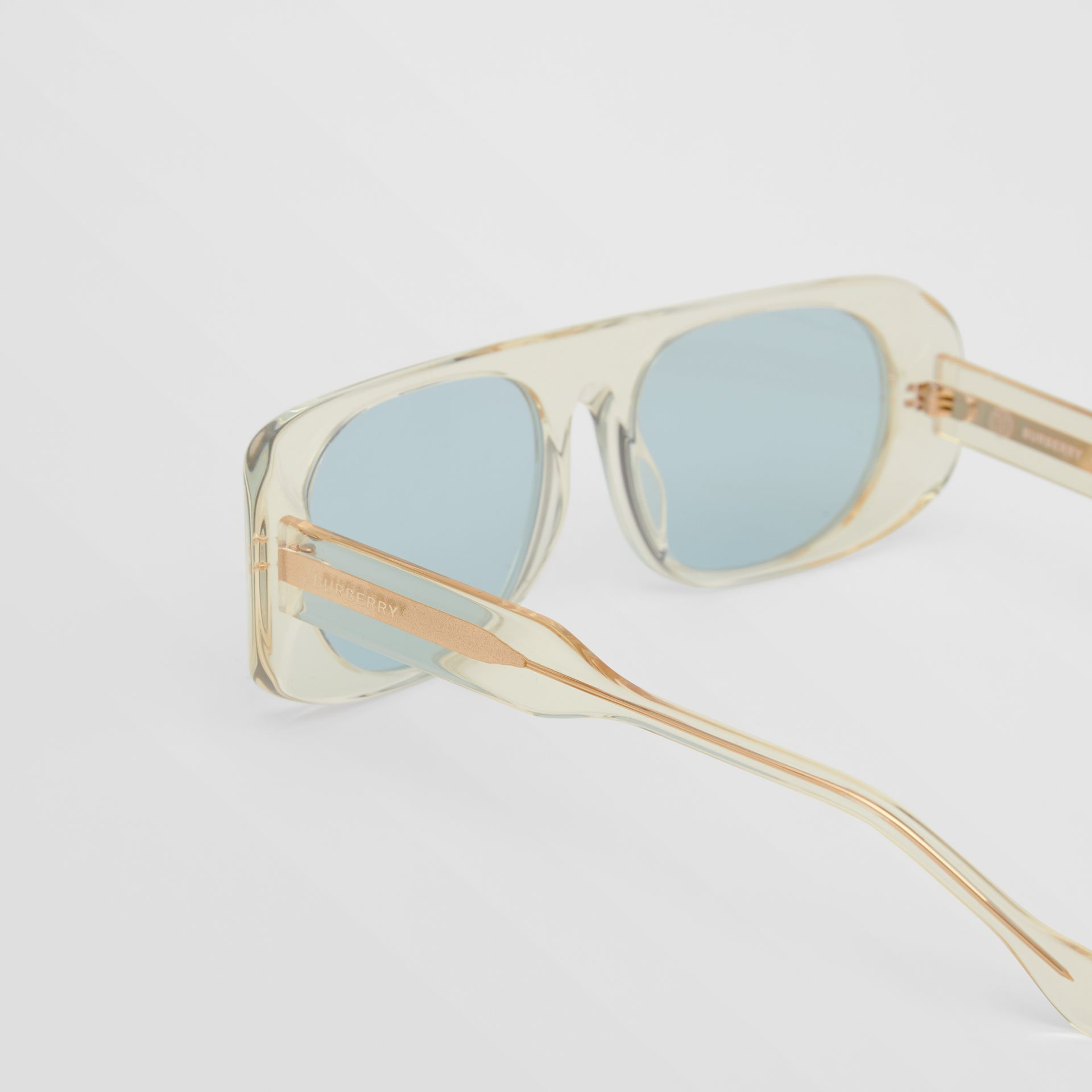 Blake Sunglasses in Transparent Champagne | Burberry - gallery image 1