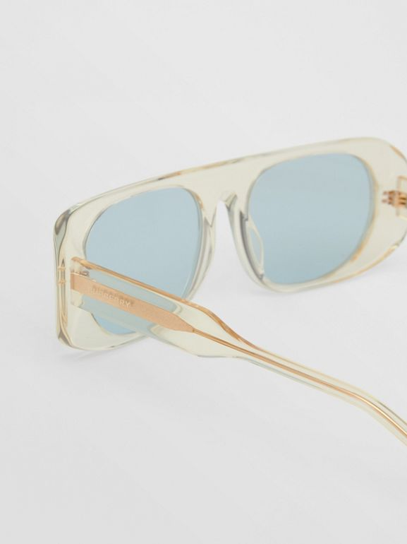 Blake Sunglasses in Transparent Champagne | Burberry - cell image 1