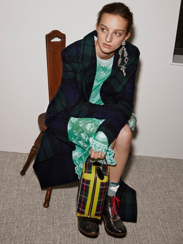 Abito in tulle ricamato a maniche lunghe (Verde Acqua/bianco) - Donna | Burberry - cell image 2