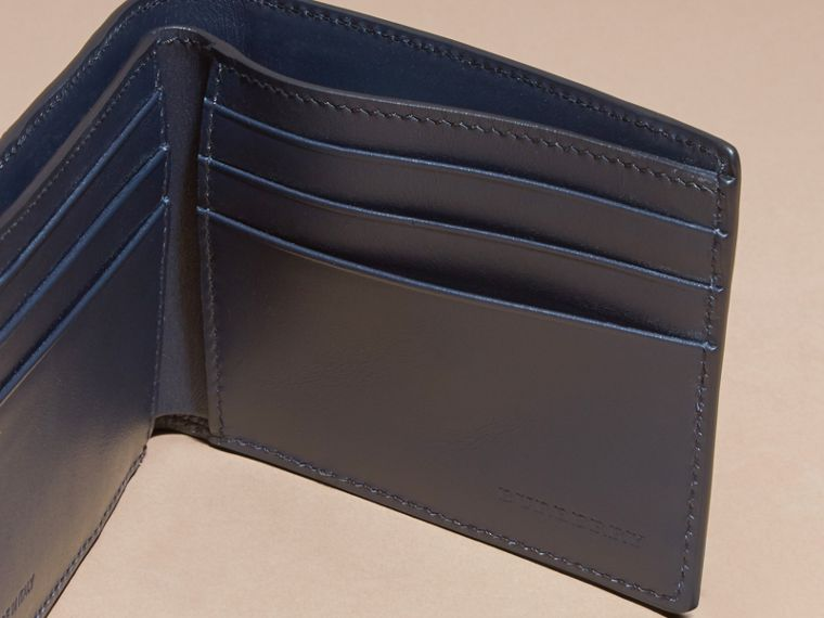 Dark navy Colour Block London Leather Folding Wallet Dark Navy - cell image 4