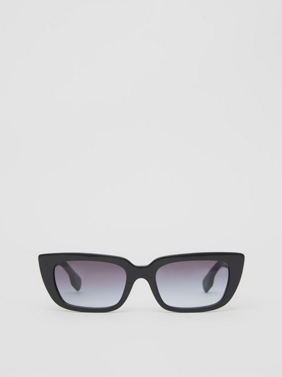 Bio-acetate Rectangular Frame Sunglasses in Black