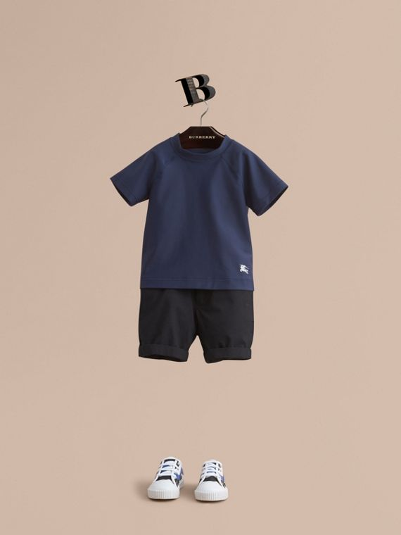 Seam Detail Rash Top - Boy | Burberry Singapore