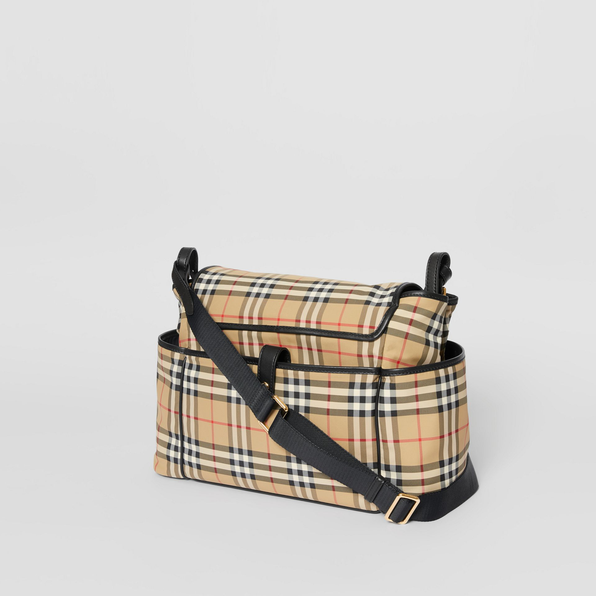 Logo Print Vintage Check Baby Changing Bag in Archive Beige - Children | Burberry - gallery image 2