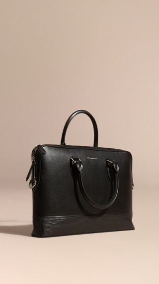 Sac The Barrow en alligator et cuir London