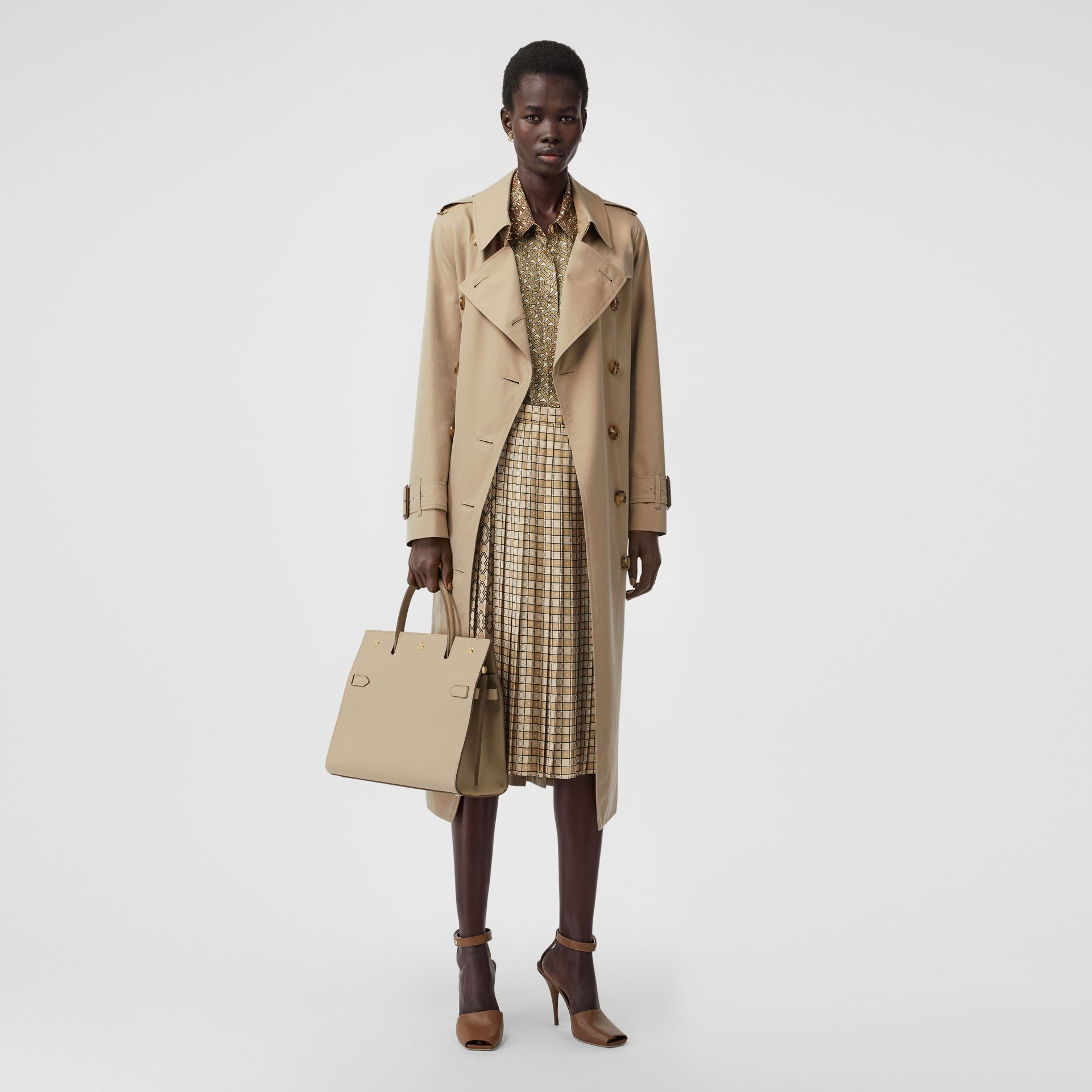 Tropical Gabardine Trench Coat in Honey - Women | Burberry Singapore - gallery image 0