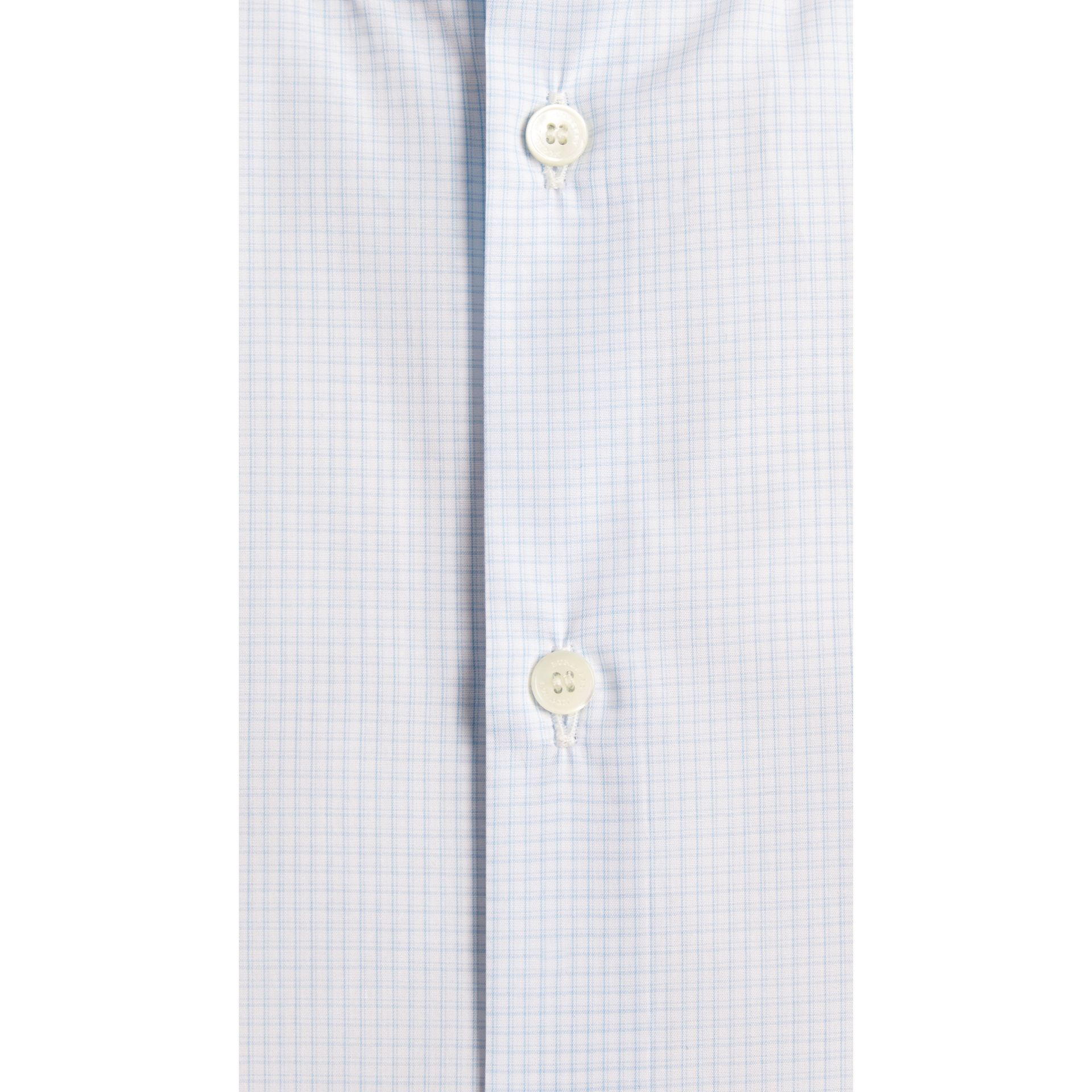 Modern Fit Button-down Collar Micro Check Cotton Shirt in City Blue - gallery image 4