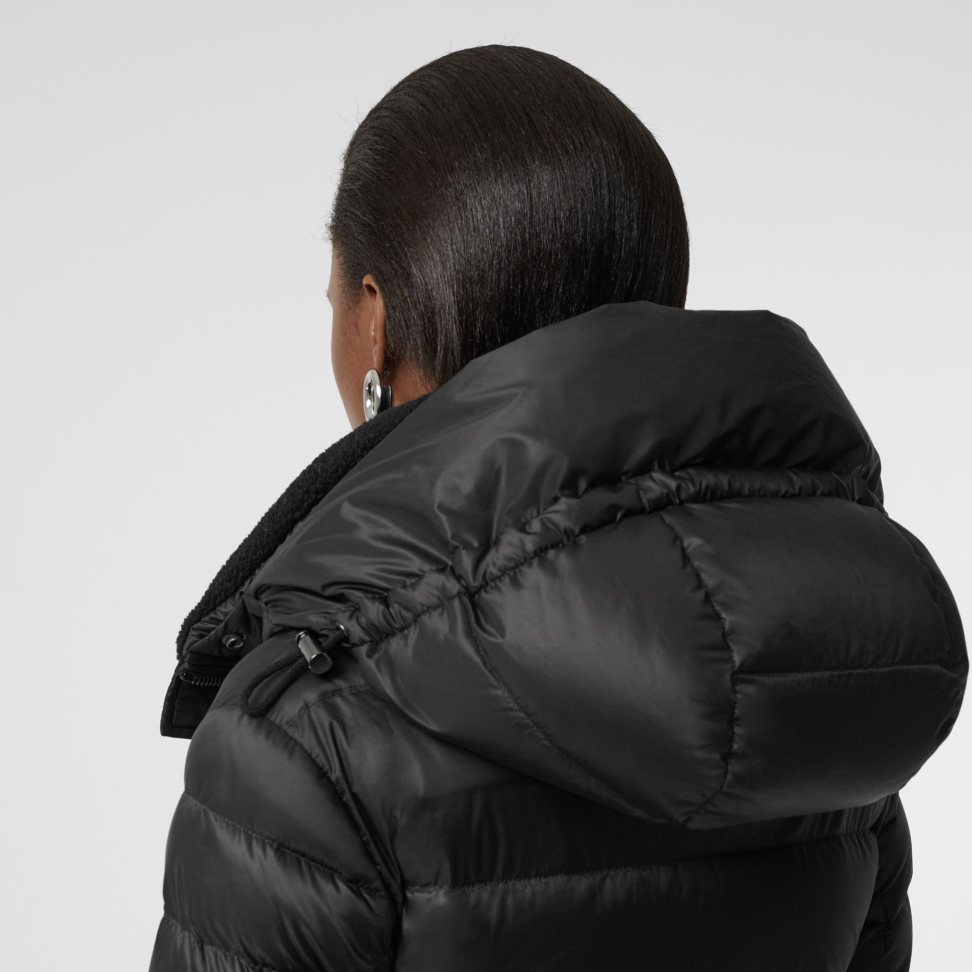 Down-filled Hooded Puffer Coat in Black - Women | Burberry Canada - gallery image 5