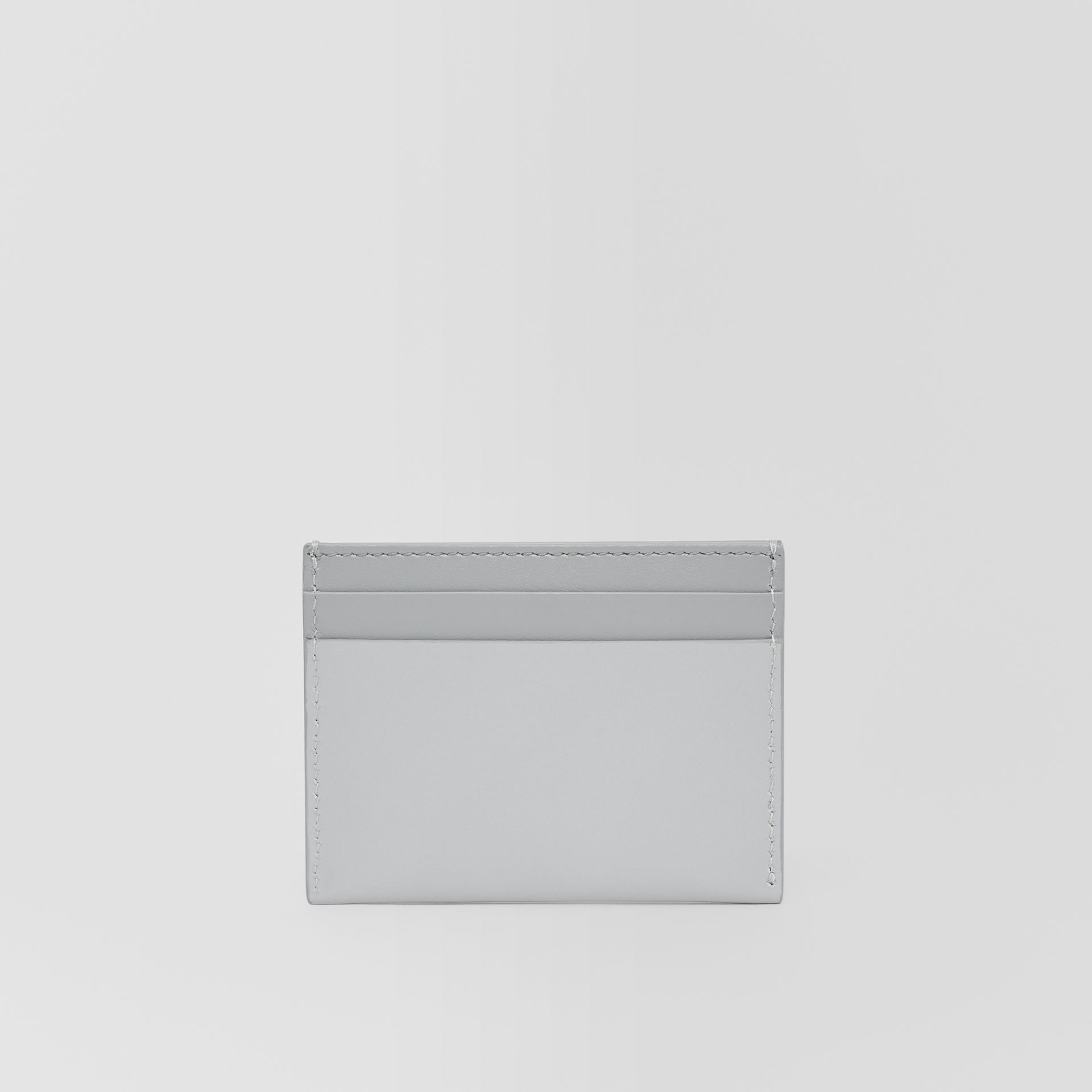 Horseferry Print Leather Card Case in Heather Melange/cloud Grey - Women   Burberry - gallery image 4