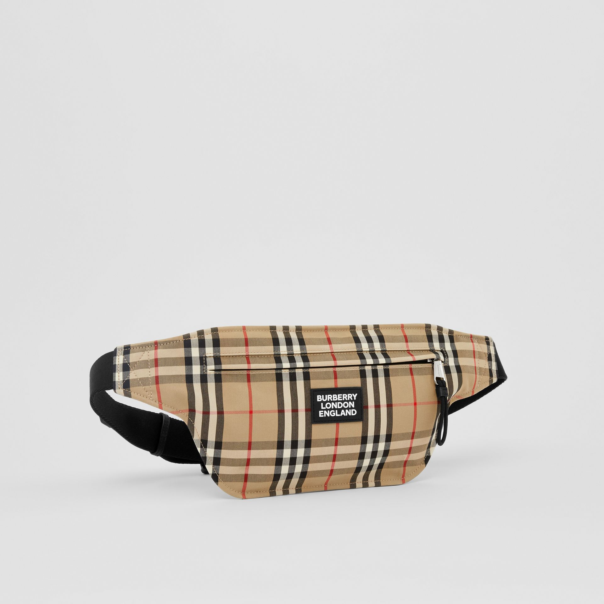 Logo Appliqué Vintage Check Brummell Bum Bag in Archive Beige | Burberry - gallery image 8