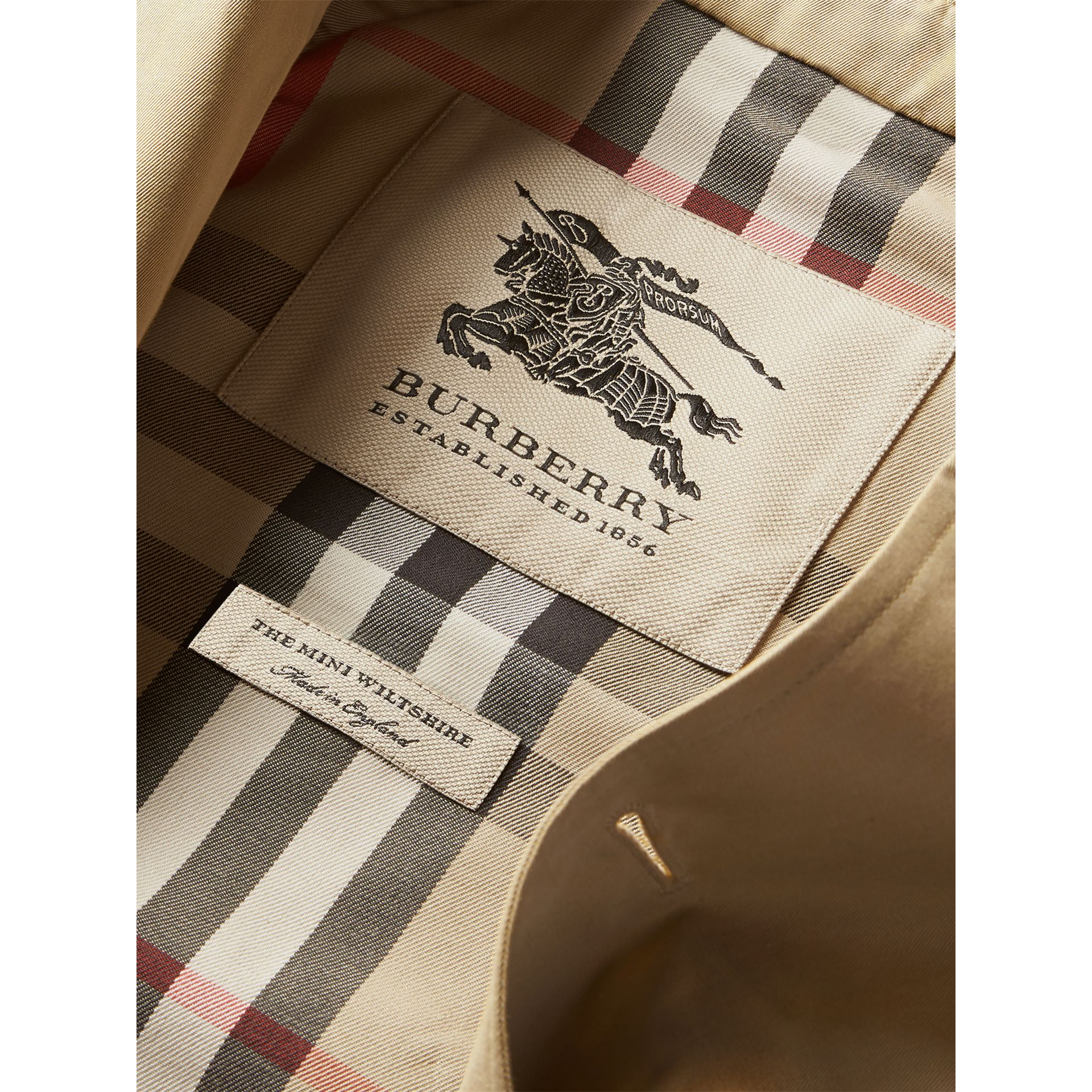 Trench The Wiltshire (Miel) - Garçon | Burberry - photo de la galerie 6