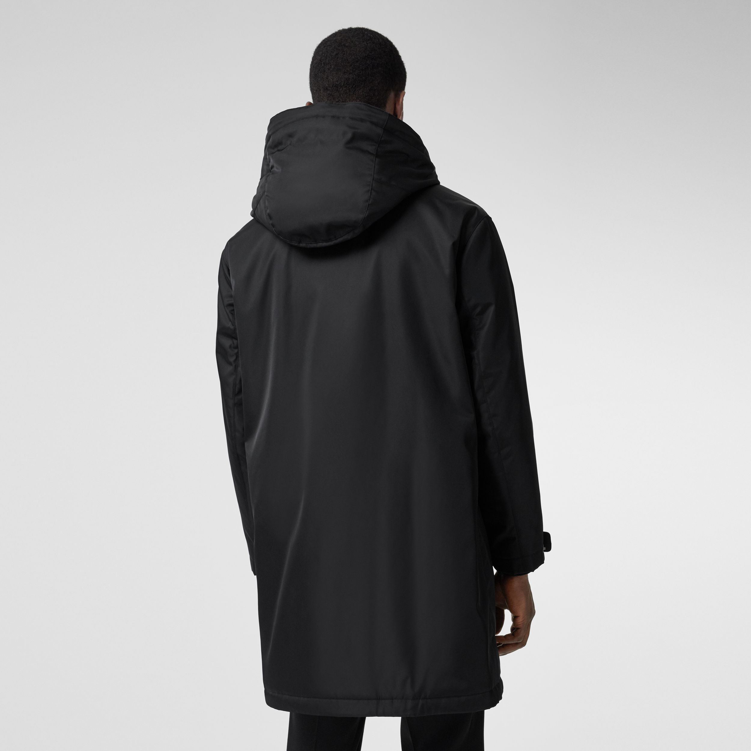 Logo Graphic Technical Twill Parka in Black - Men | Burberry - 3