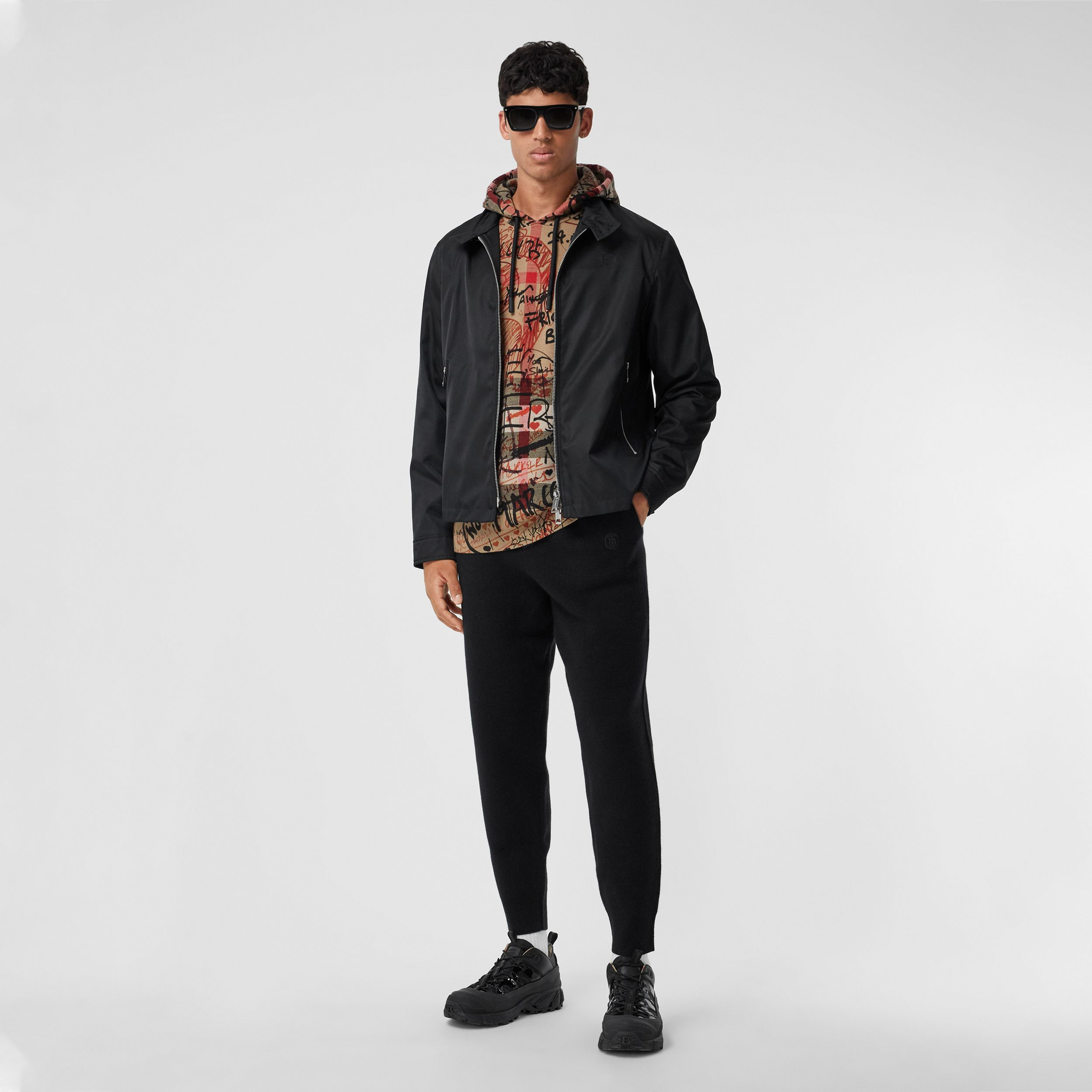 Monogram Motif ECONYL® Jacket in Black - Men | Burberry Australia - 1