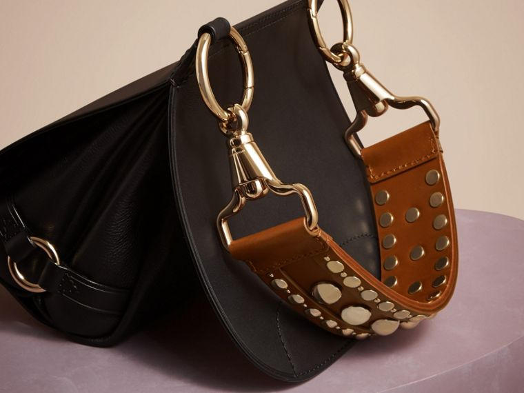 Black The Bridle Bag in Leather - cell image 4