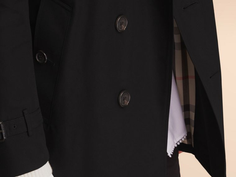 The Kensington – Mid-Length Heritage Trench Coat in Black - cell image 4