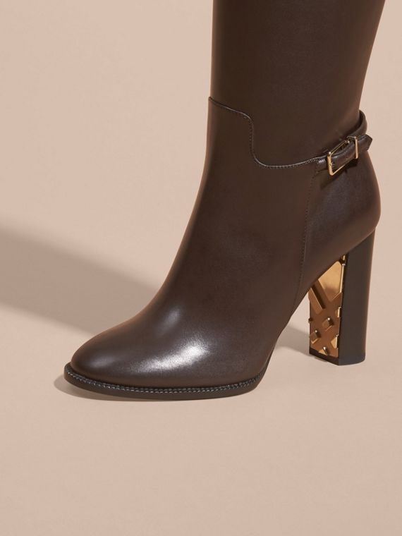 Chestnut Knee-high Leather Boots - cell image 2