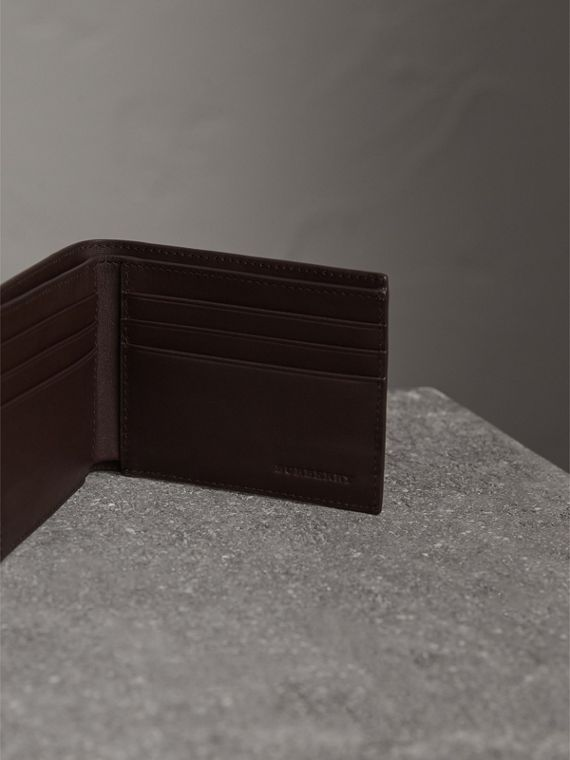 London Check Bifold Wallet in Deep Claret - Men | Burberry - cell image 3