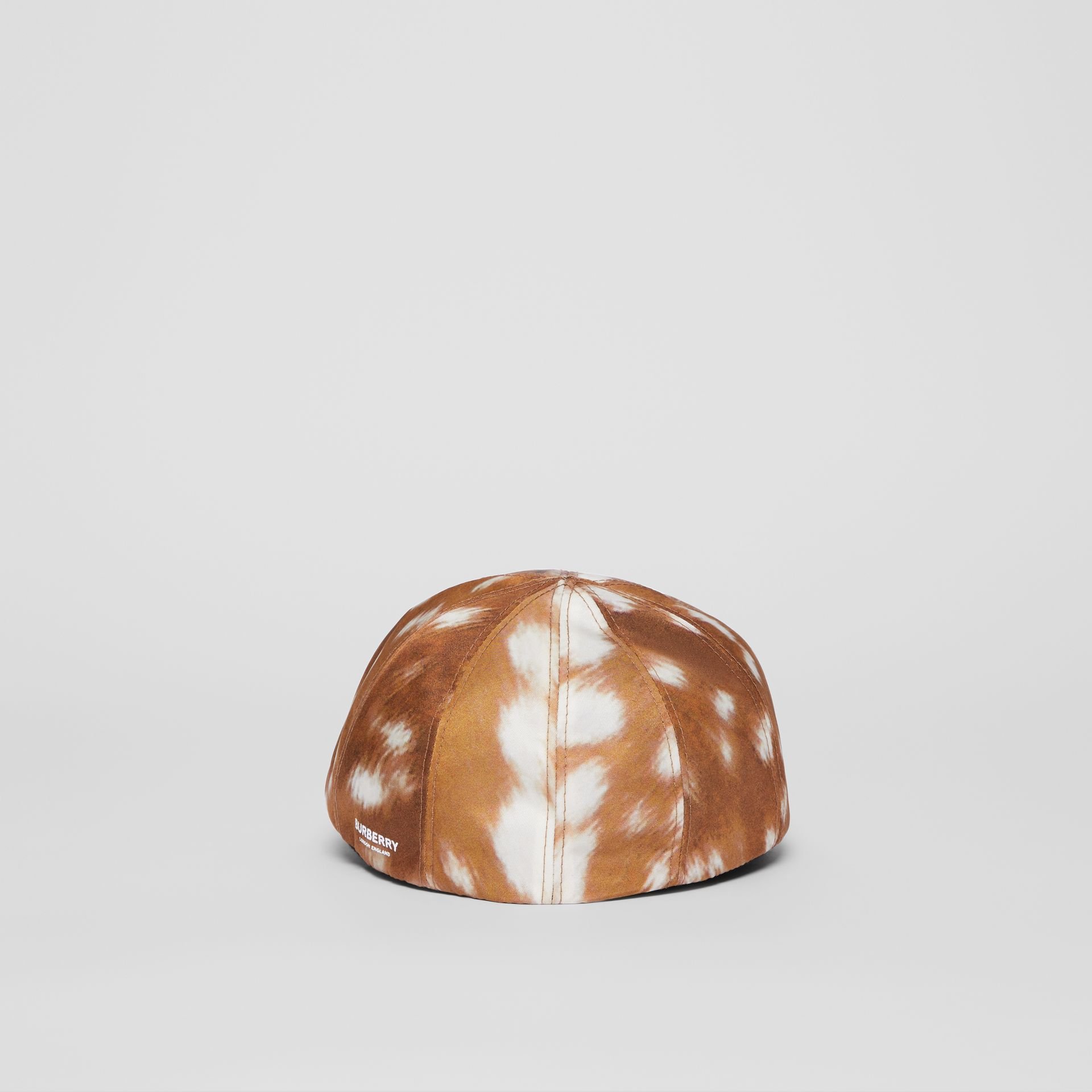Deer Print Nylon Flat Cap in Tan | Burberry - gallery image 6